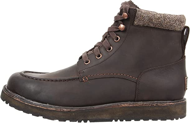 Casual Leather Moc Toe Boots