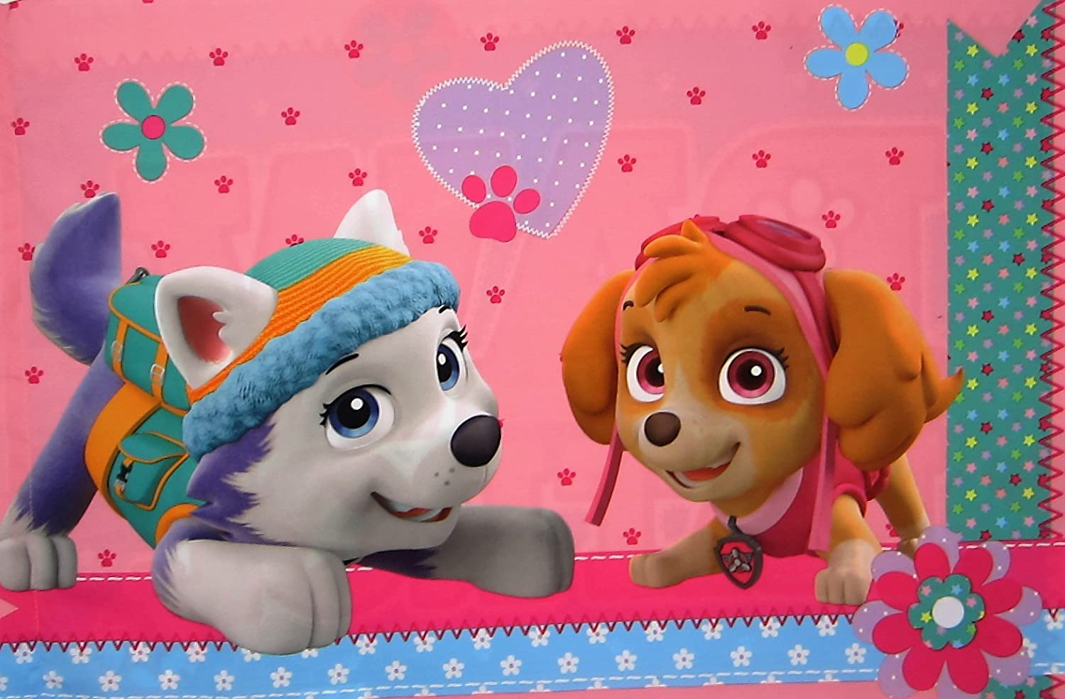 Paw Patrol Best Pup Pals (Pillowcase Only) Size STANDARD Girls Kids Bedding Franco Manufacturing Co. Inc.