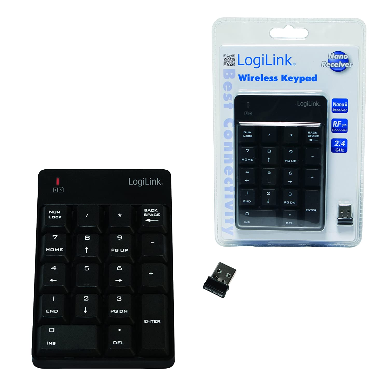 LogiLink ID0120 Wireless Numeric Keypad with 18 Keys