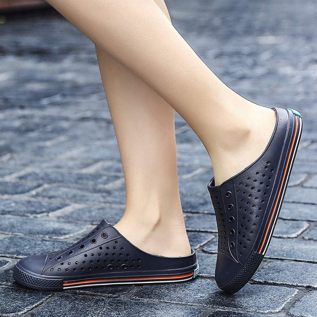 Lurryly Summer Casual Men Flat Breathable Antiskid Light Slipper Beach Hole Shoes Sandal