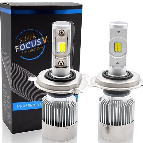 LncBoc Faros LED H4 Hi/Lo Bombilla 70W 8000LM(4000LMx2) Bombillas de Faros