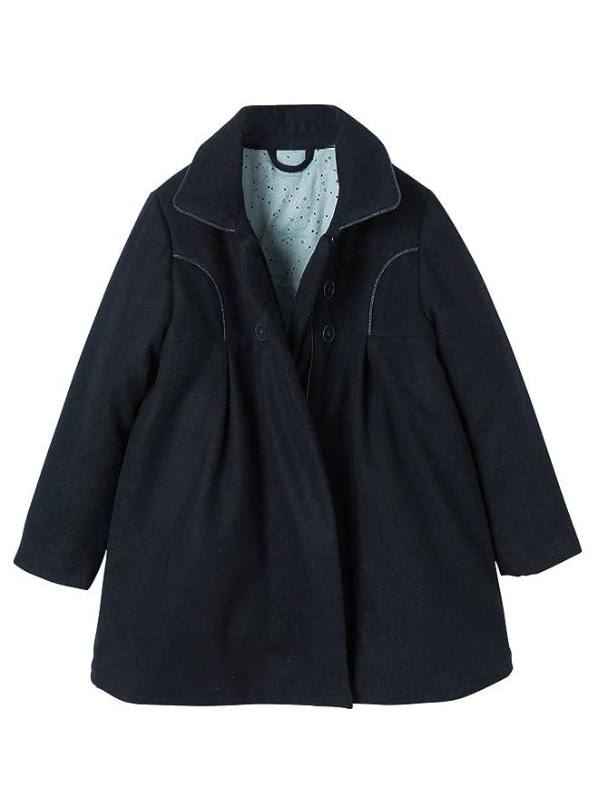 VERTBAUDET Gabán de paño de lana niña Azul Marino 14A: Amazon.es: Ropa y accesorios