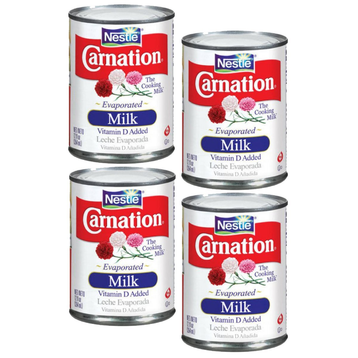 Amazon.com : Nestlé Carnation Evaporated Milk 12oz (Pack of 4) : Grocery & Gourmet Food