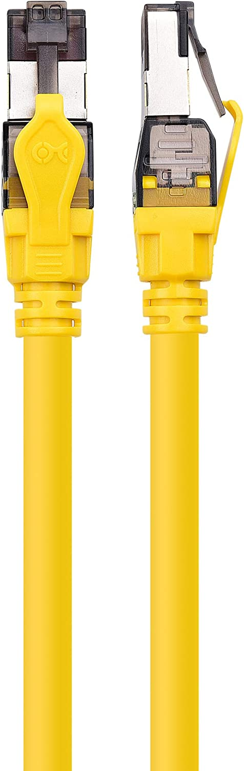 in Yellow for 10Gbps Cat8 Cable, Cat 8 Cable 25Gbps or 40Gbps Data Rate 1m Cable Matters SFTP Cat8 Ethernet Cable