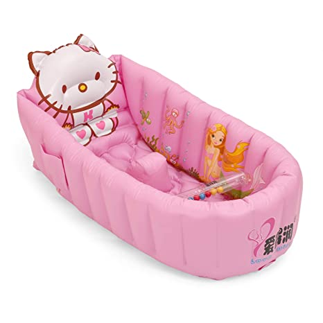 Swell Powerpak Inflatable Baby Bath Tub For Infant Green Pink And White Creativecarmelina Interior Chair Design Creativecarmelinacom