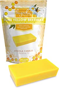 Hyoola Yellow Beeswax Block- 100% Natural - Premium Cosmetic Grade - Pure Beeswax Bars - 1 Pound - Triple Filtered Easy Melt Bees Wax Sticks