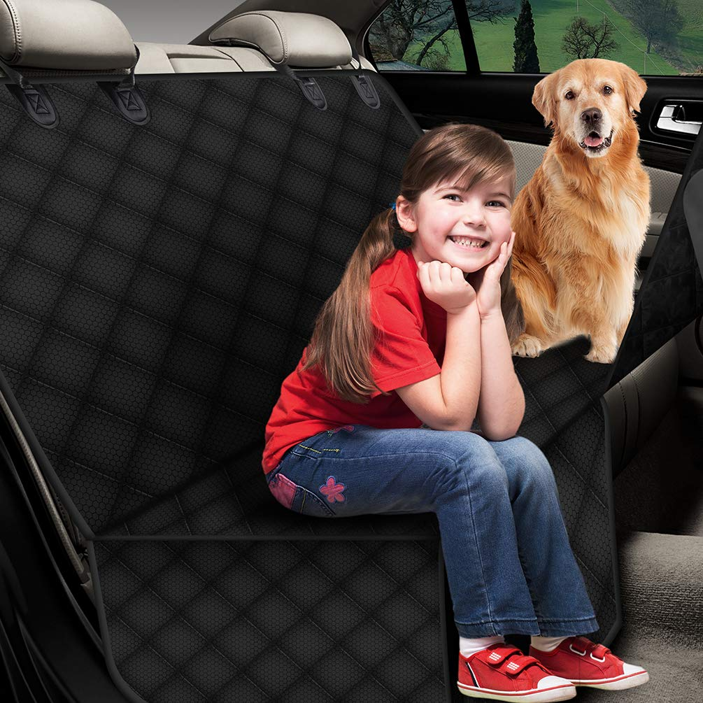 Petacc Dog Back Seat Cover Waterproof Pet Car Hammock Car Seat Protector from Dog Scratching Pet Seat Cover Custom Fit for Car, SUV, Truck
