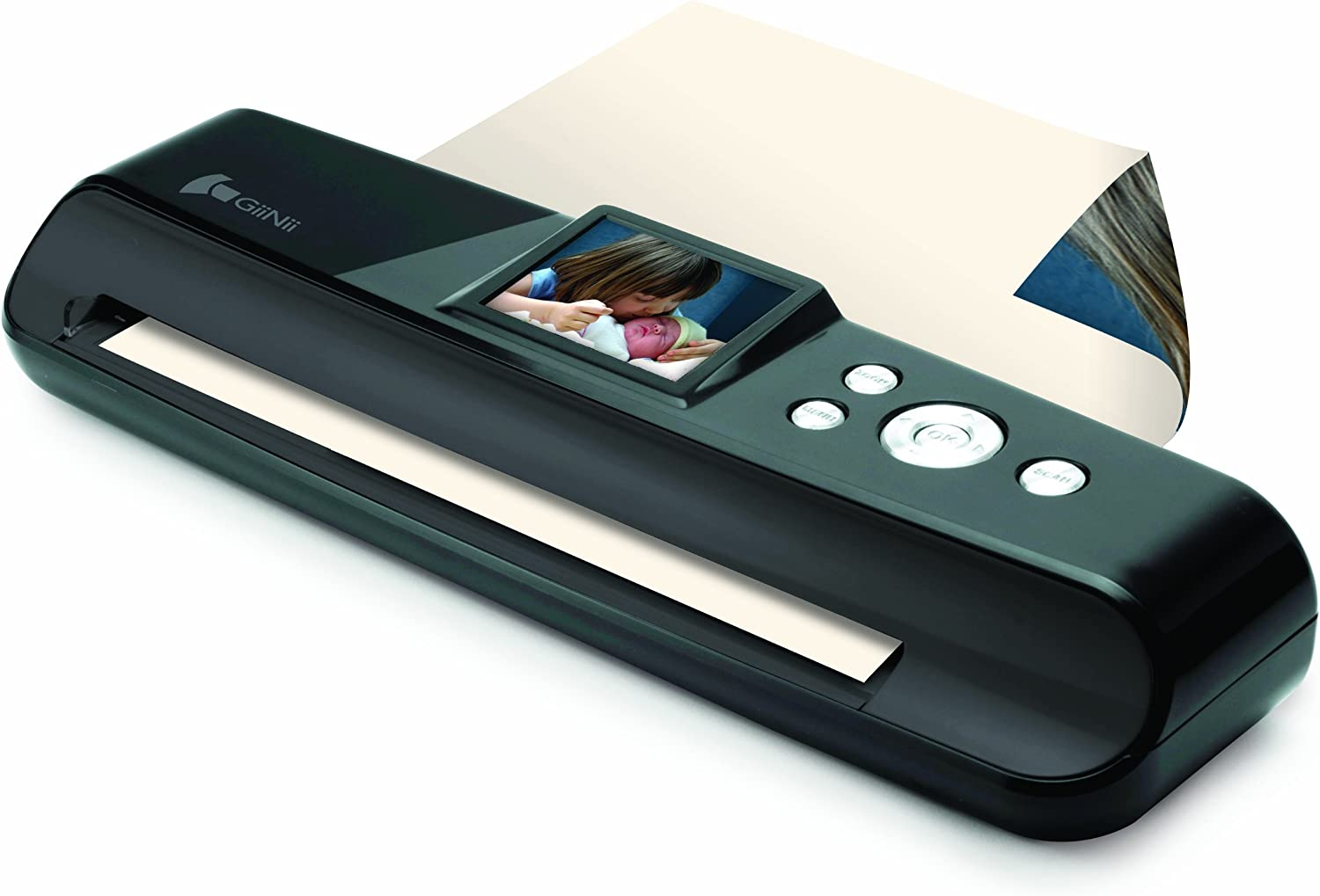 GiiNii GN-5LS NuLife Full Page Picture Scanner with 2.4-Inch LCD Screen-Black
