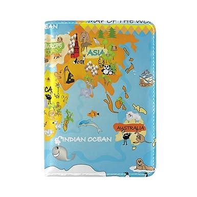 Amazon la random kids world map passport holder cover leather la random kids world map passport holder cover leather travel passport wallet case gumiabroncs Gallery