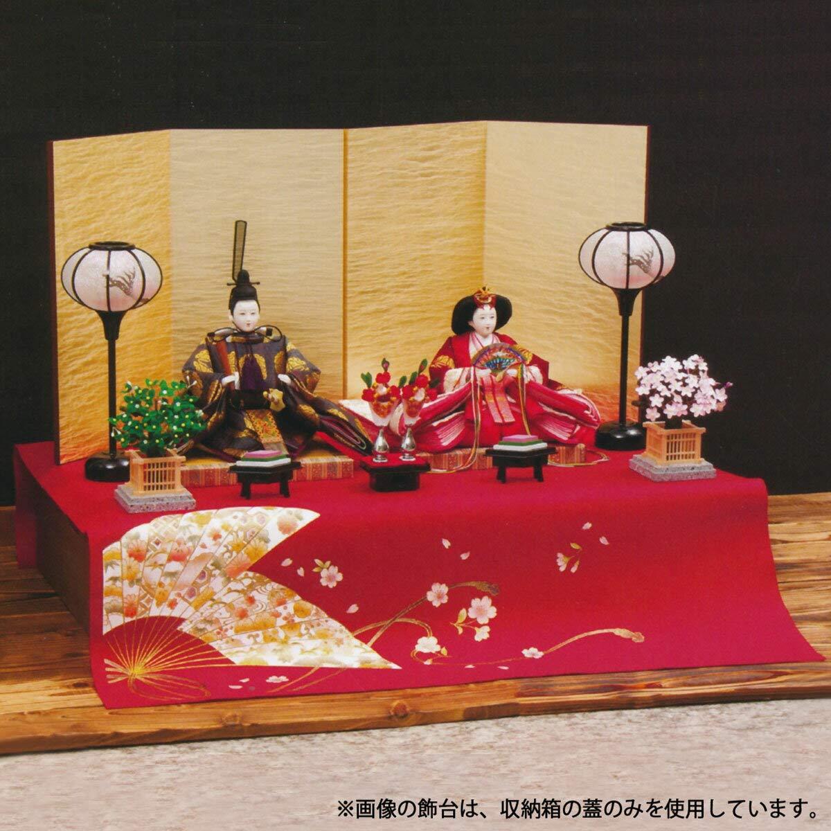 雛人形 みずほ 京十番親王揃 収納飾り ひな人形 収納飾り 平安豊久 HNH-304934 HD-061   B07KCZQDJC