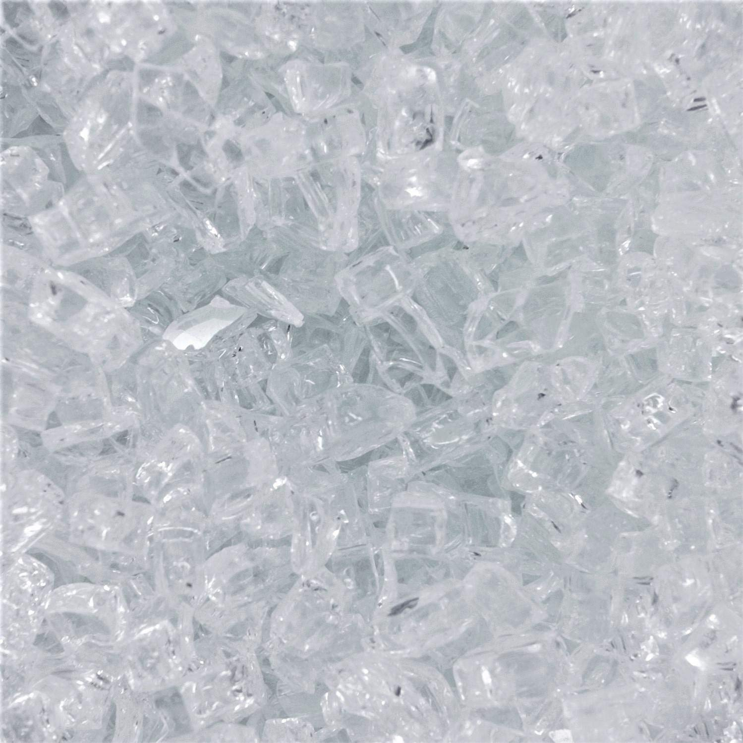 Lakeview Outdoor Designs 1/4-Inch Diamond Clear Fire Glass - 90 Pounds