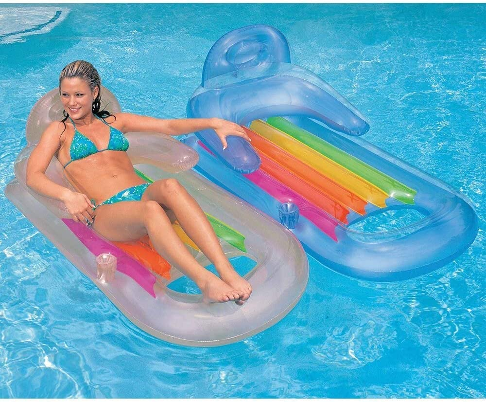 Intex King Kool Swimming Pool Lounger with Headrest /& Cupholder for sale online