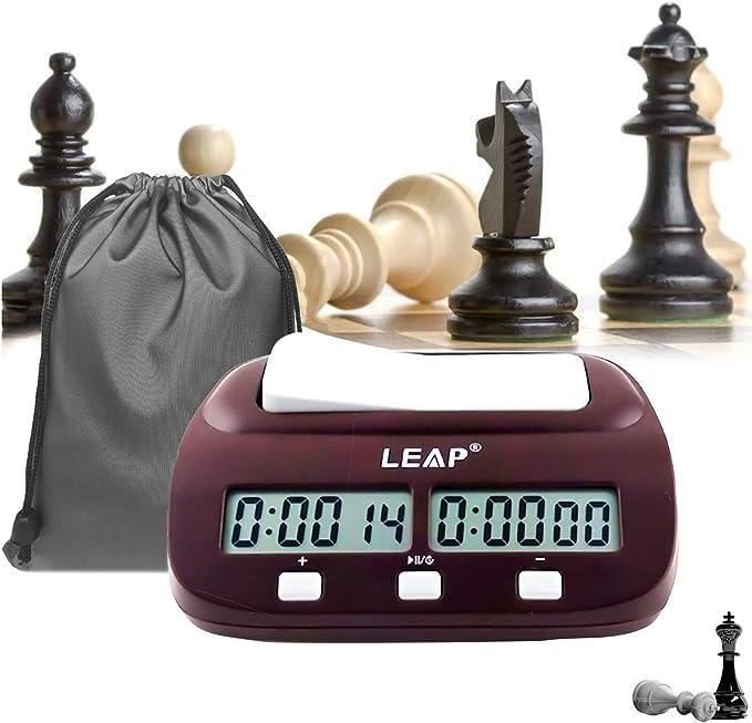 Compra Reloj de Ajedrez reloj de ajedrez profesional temporizador de cuenta atrás de alta definición de pantalla digital LED sincronización precisa de compra internacional de certificación profesional dispon en Amazon.es
