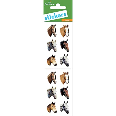 Playhouse Handsome Horses Pack of Three Perforated Sticker Half-Sheets: Arts, Crafts & Sewing