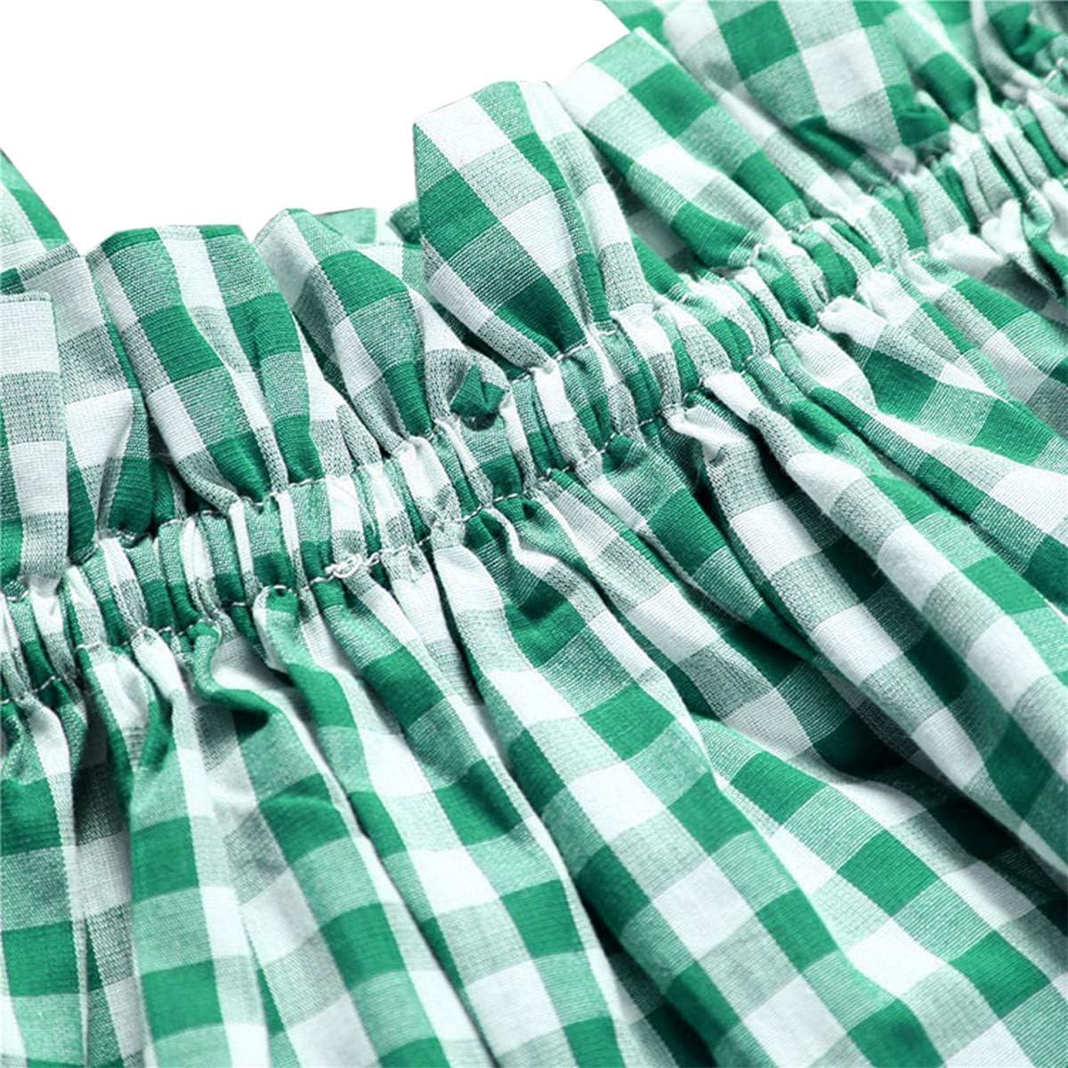YOHA Baby Girls Ruffle Lace Skirt with Bottom Shorts Jumper Dress Outfit Set