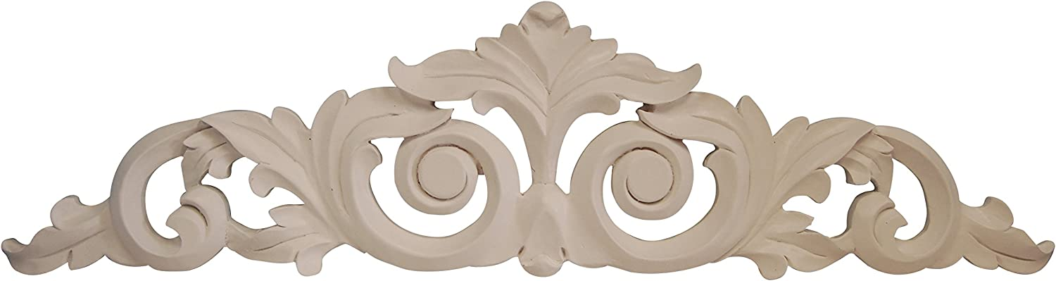 Hickory Manor House Scroll Leaf Over Door Decor, Bright White