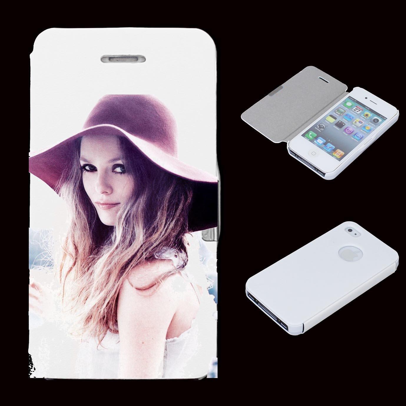 Amazon.com: leather flip Case Carcasa iphone 4 / 4S People ...
