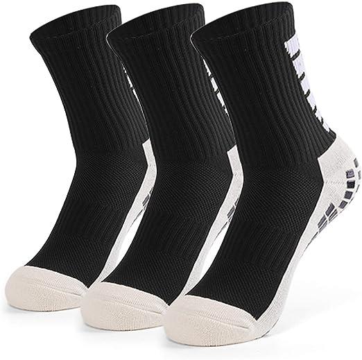 Dee Plus rutschfeste Fu/ßball Socken Anti Rutsch Sportsocken Basketballsocken Yoga Socken Noppen Sohle Damen /& Herren One Size EU 38-46 Grip Fu/ßballsocken Tape Fussball Socken