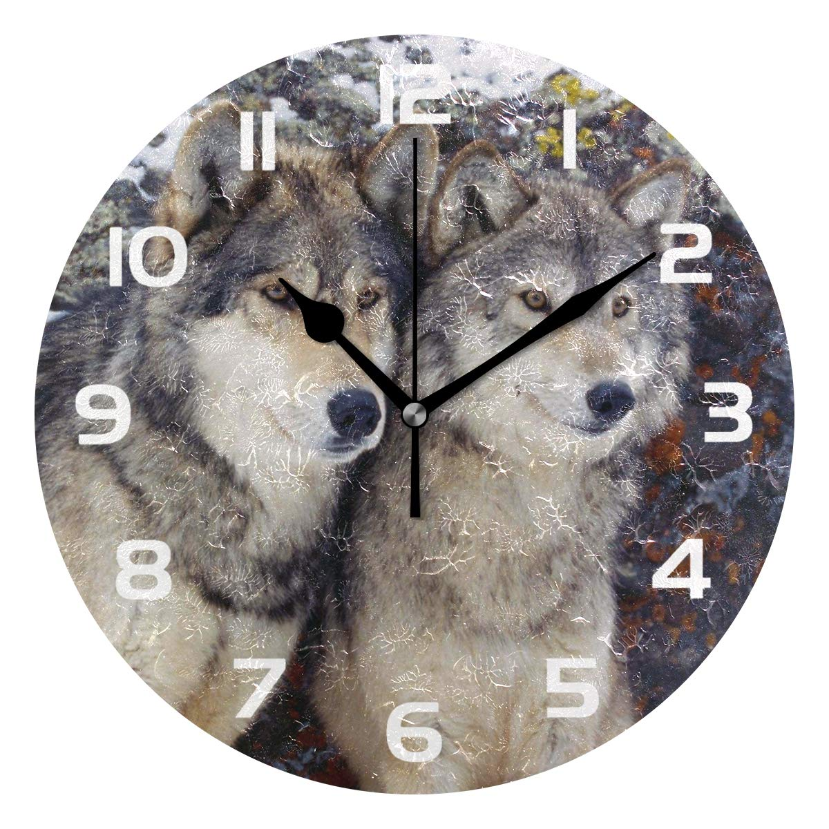 Wolves Decorative Wall Clock