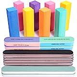 Nail Files and Buffers, FANDAMEI 20PCS Professional Manicure Tools Kit. Rectangular Nail Buffer Block & 100/180 Grit…