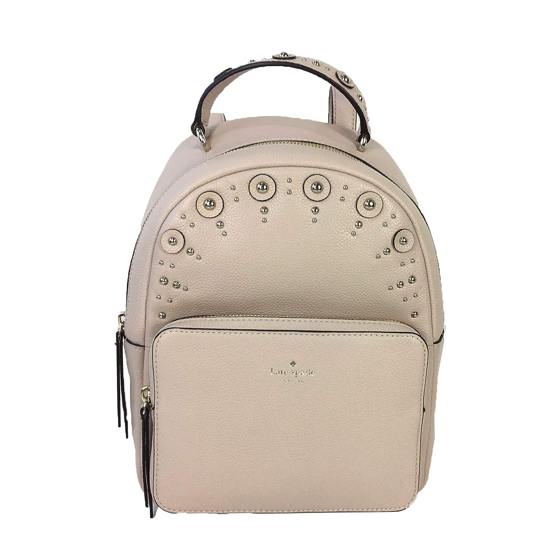 Kate Spade Studded Leather Mini Nicole Backpack Warm Beige