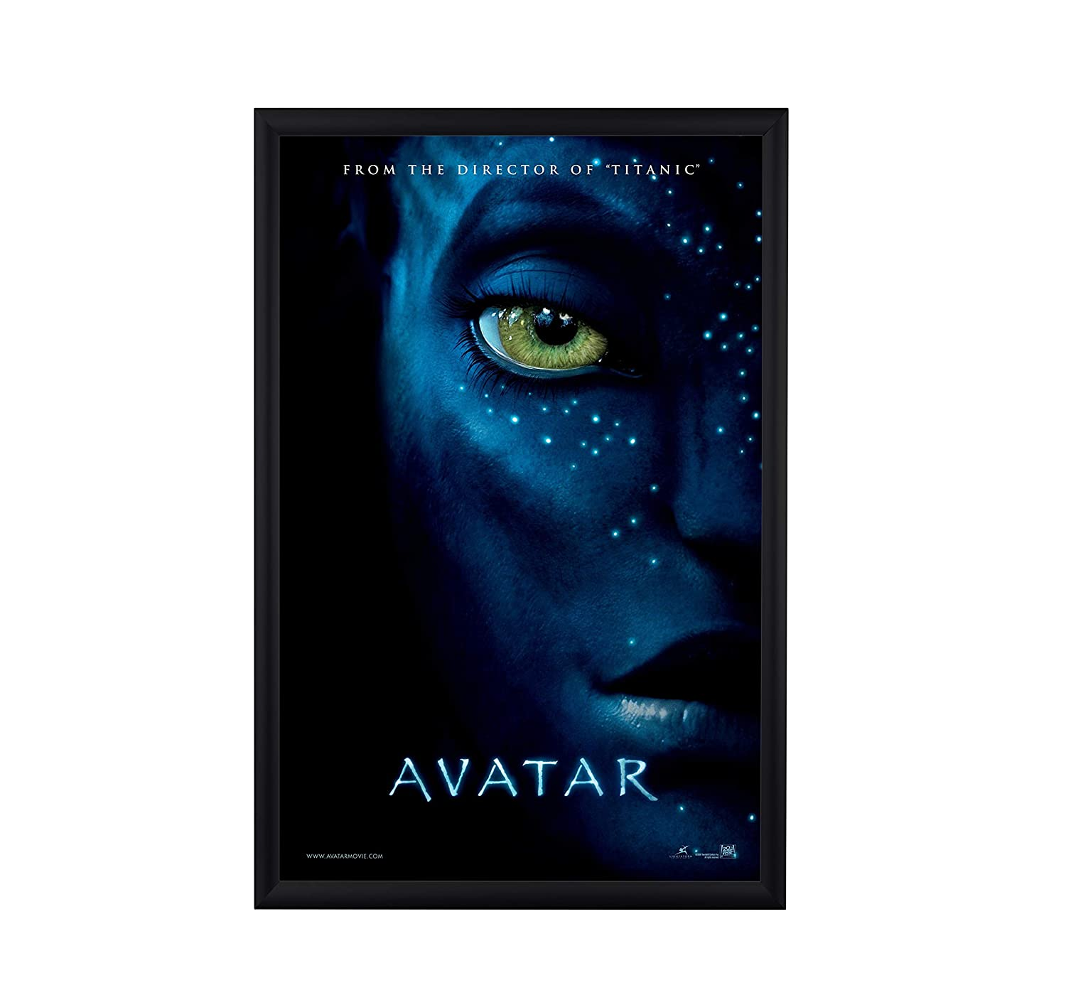 """BNV Movie Poster Frame 24x36 Inches, Black 1"""" Aluminum Profile,Front Load Snap Frame, Wall Mounting, Portrait and Landscape Mode, Easy Installation, Anti-Glare, PVC Cover, Lightweight"""