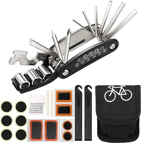 Homealexa Kit Reparación Herramientas Bicicleta 16 en 1 ...
