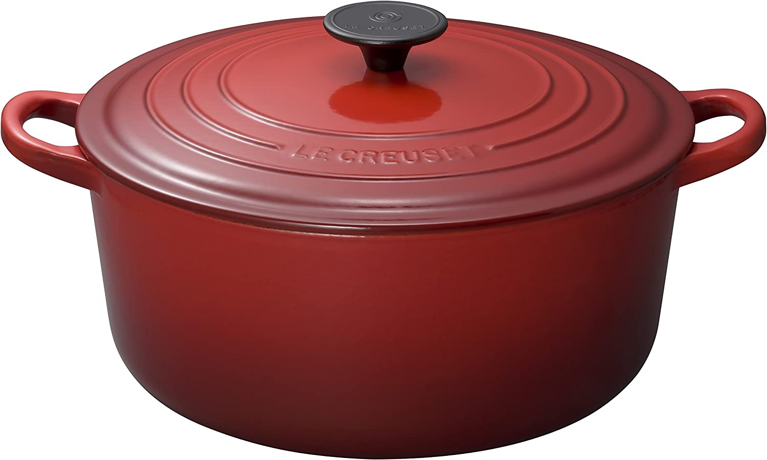 Le Creuset Enameled Cast-Iron 9-Quart Round French Oven, Red