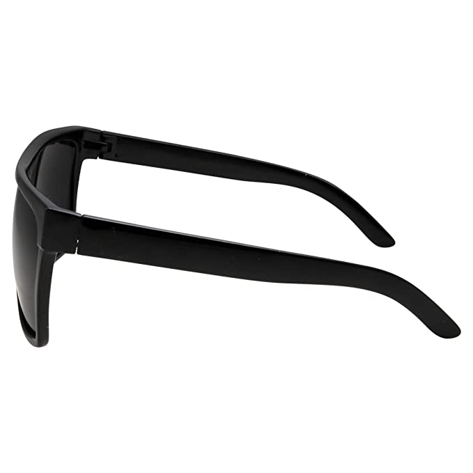 grinderPUNCH All Black Limo Dark Rectangular Flat Top Mob Oversized Sunglasses