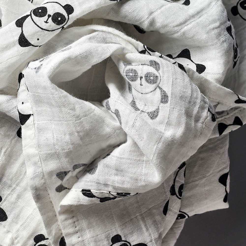 100/% Baumwolle Panda-Herz Pucktuch-Set 120 x 120 cm gro/ß First Baby