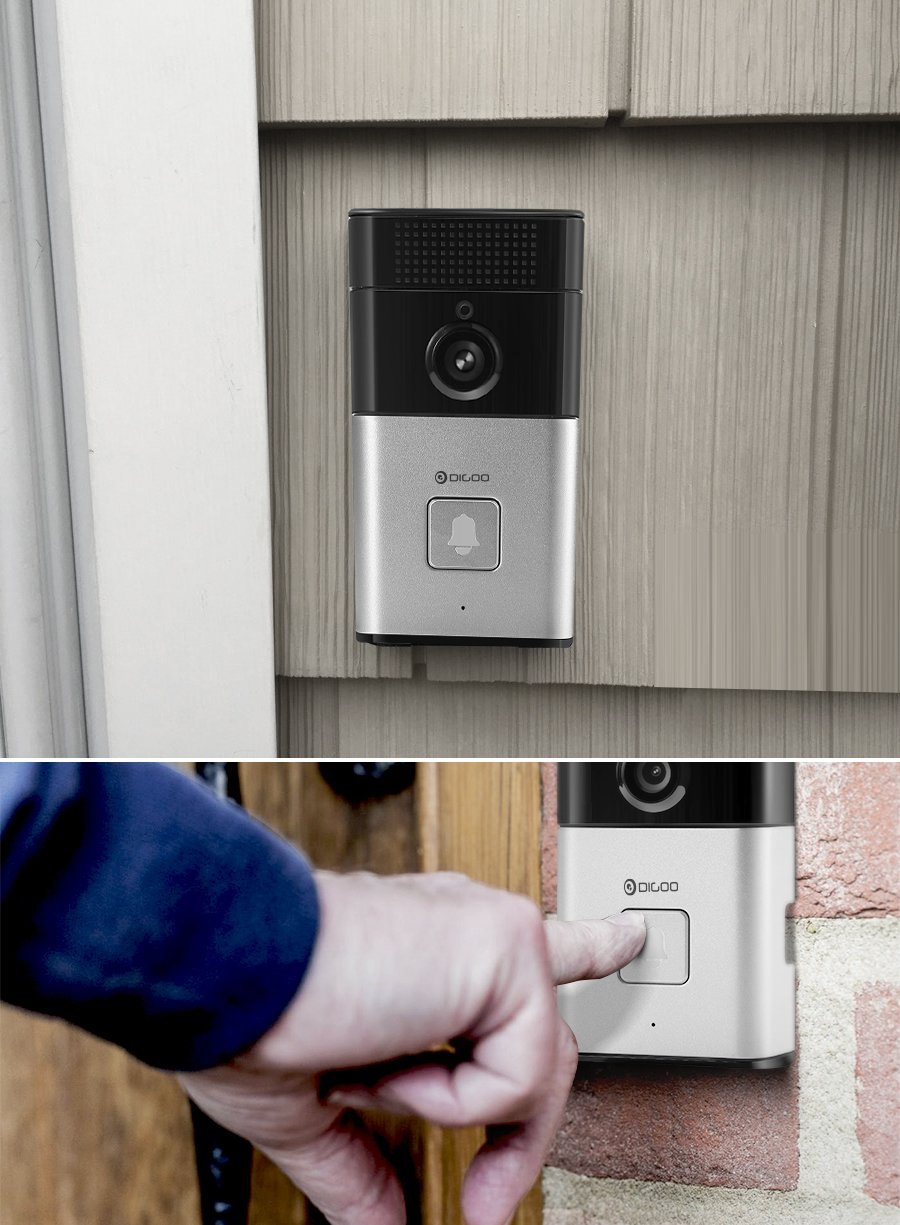 Digoo SB-XYZ Wireless Bluetooth and WIFI Smart Home HD Video DoorBell Camera Phone Ring by scoutBAR (Ship From USA)