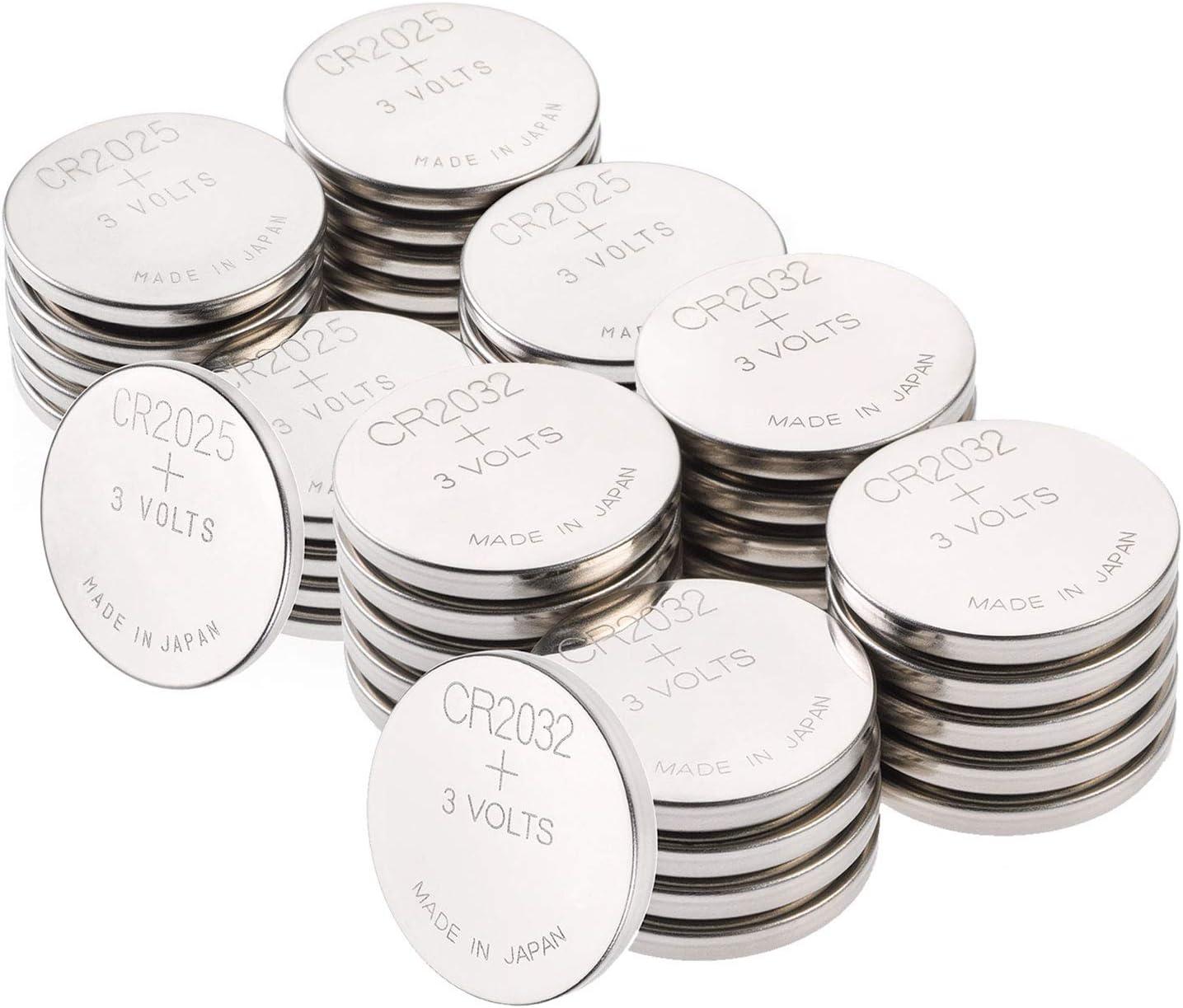 GP - Pilas de botón (20 CR2032 y 20 CR2025, 3 V, Pilas de botón Li ...