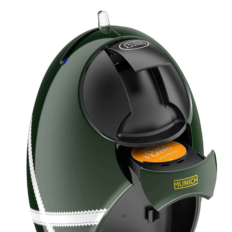 DeLonghi Dolce Gusto Jovia Munich EDG250.GRX - Cafetera de cápsulas, 15 bares de presión, depósito agua 0.8 l, edición limitada Munich, verde y blanca: ...