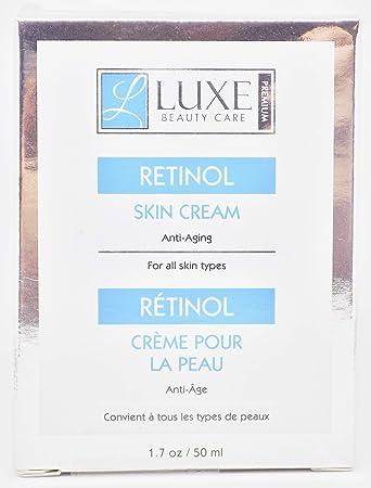 Amazon Com Luxe Beauty Care Retinol Skin Cream Anti Aging 1 7oz Beauty