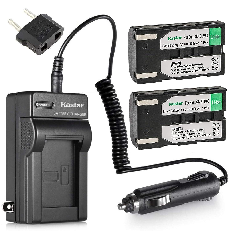85b20d20e456 Amazon.com : Kastar Travel Charger with Car Adapter for Samsung SB-LSM80, SB-LSM160,  SB-LSM320 Battery and Samsung SC-D Series, VP-D Series Digital Cameras ...
