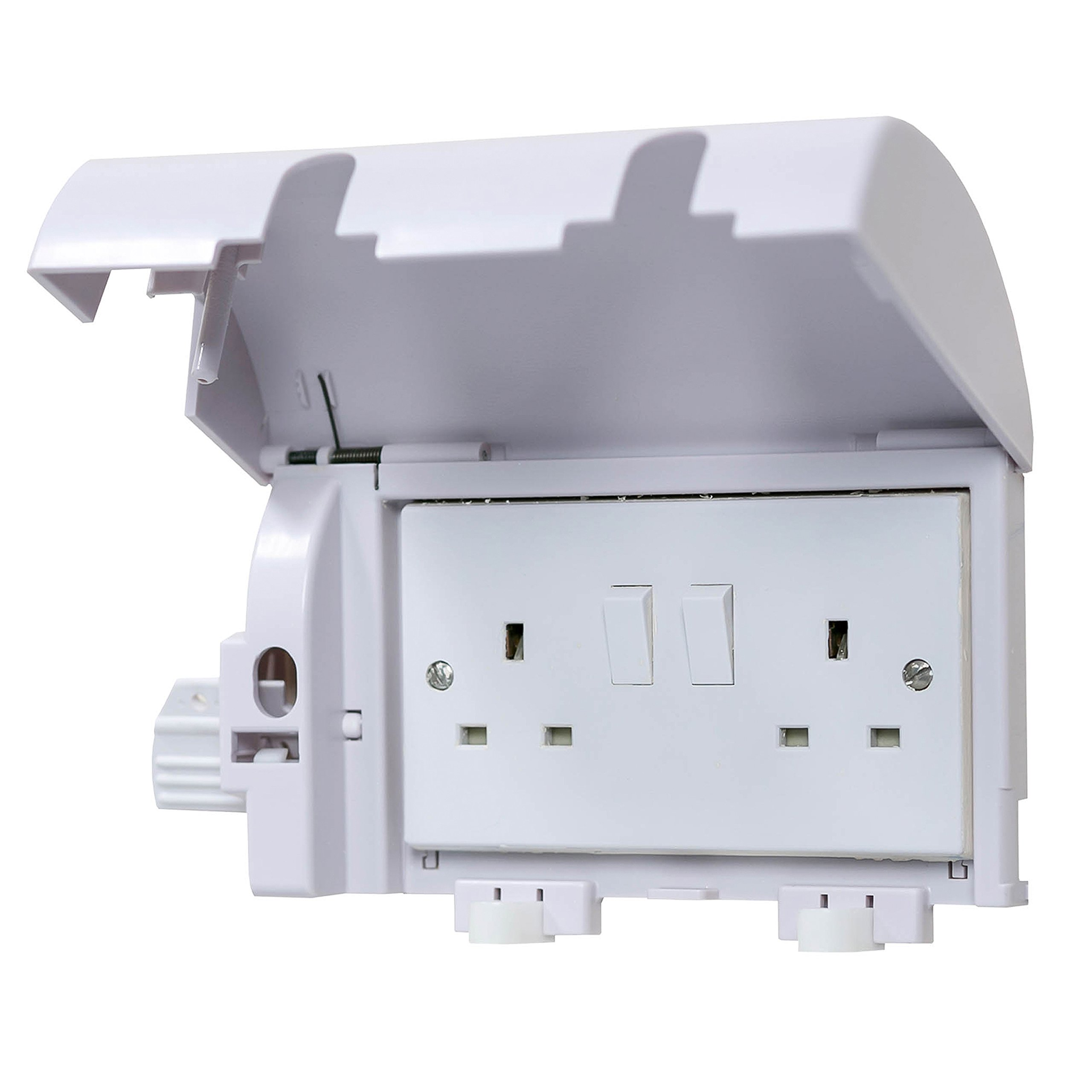 1 Pack Clippasafe Electrical Plug Socket Protector Stone White
