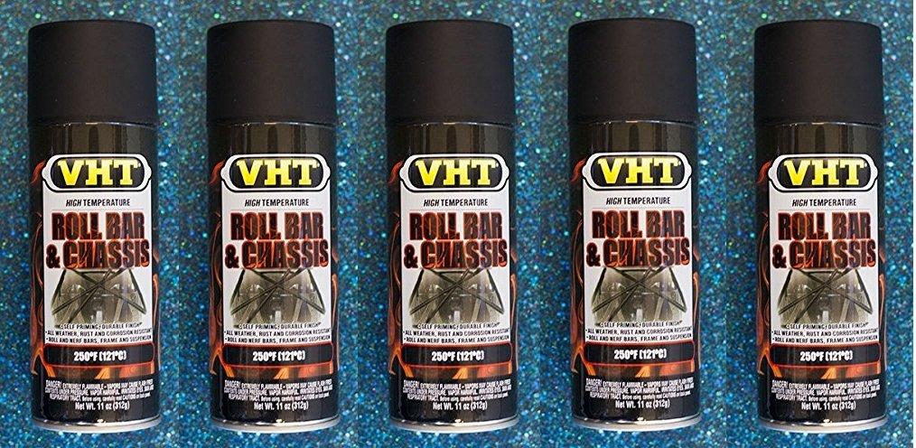 Dupli-Color® VHT SP671 Roll Bar & Chassis Paint Satin Black High Temp 11 oz (5)