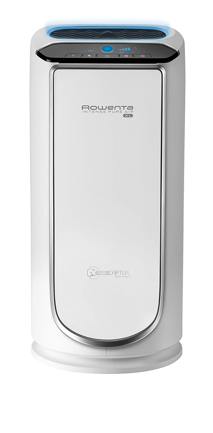 Rowenta PU6020 Intense Pure Air XL Air Purifier with Pollution Sensors and 4-Filters Including HEPA Filter and Formaldehyde-Free Technology and Odor Eliminator, 29-Inch, White