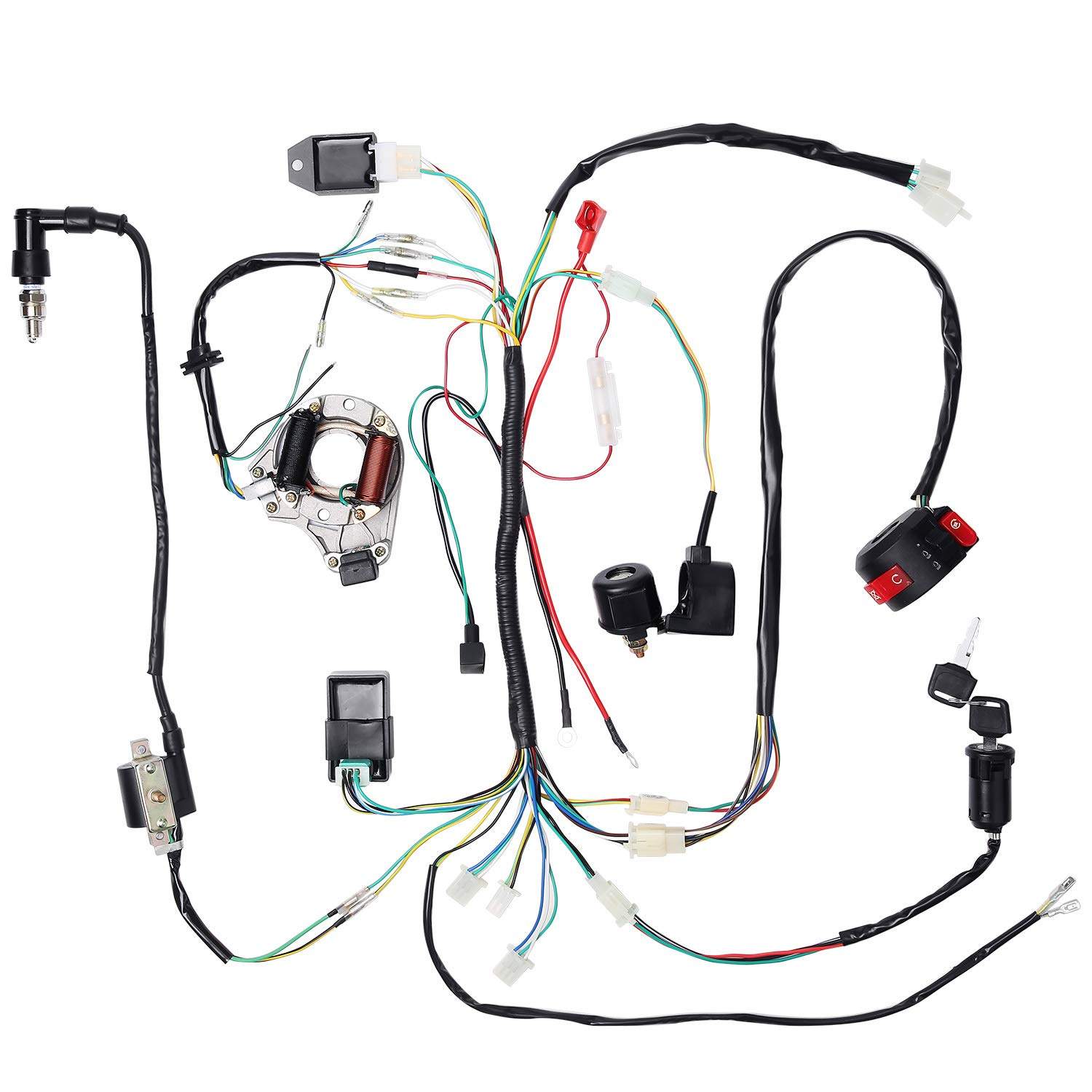 CISNO Complete Electrics Stator Coil CDI Wiring Harness for 4 Stroke on 4 stroke engine timing, 4 stroke diagram, 4 stroke exhaust, 4 stroke spark plug color, 4 stroke tuning, 4 stroke engine firing order, 4 stroke motor, 4 stroke fuel injection,