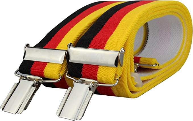 Tirantes de los colores de la bandera de Alemania con 4 pinzas ...