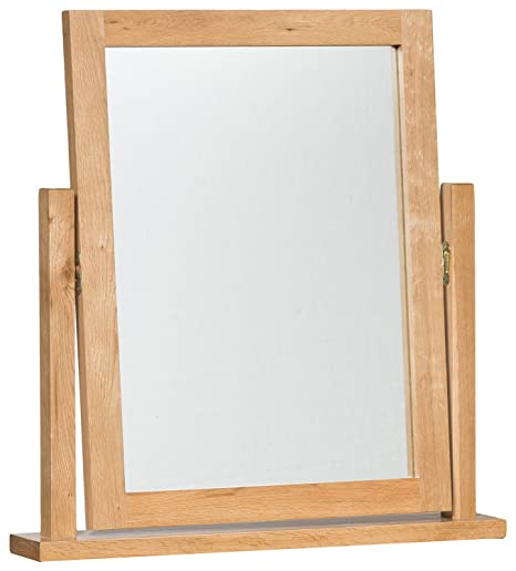 Camberley Oak Dressing Table Mirror In Light Oak Finish Solid Wooden Trinketmakeupframe Vanity Mirror