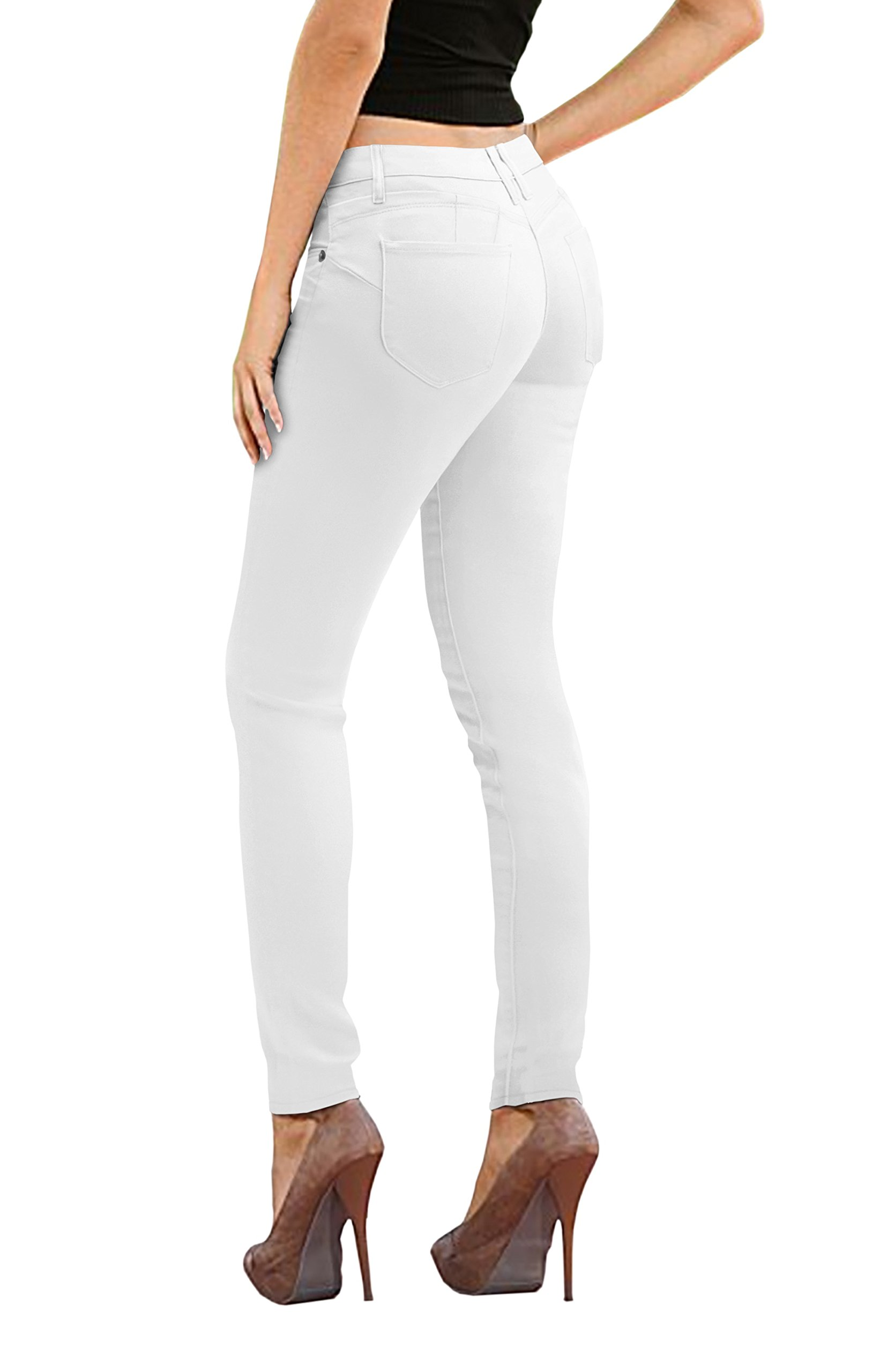 HyBrid & Company Women's Butt Lift Stretch Denim Jeans-P37378SKX-White-16