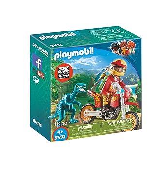 Playmobil Moto con Velociraptor 9431