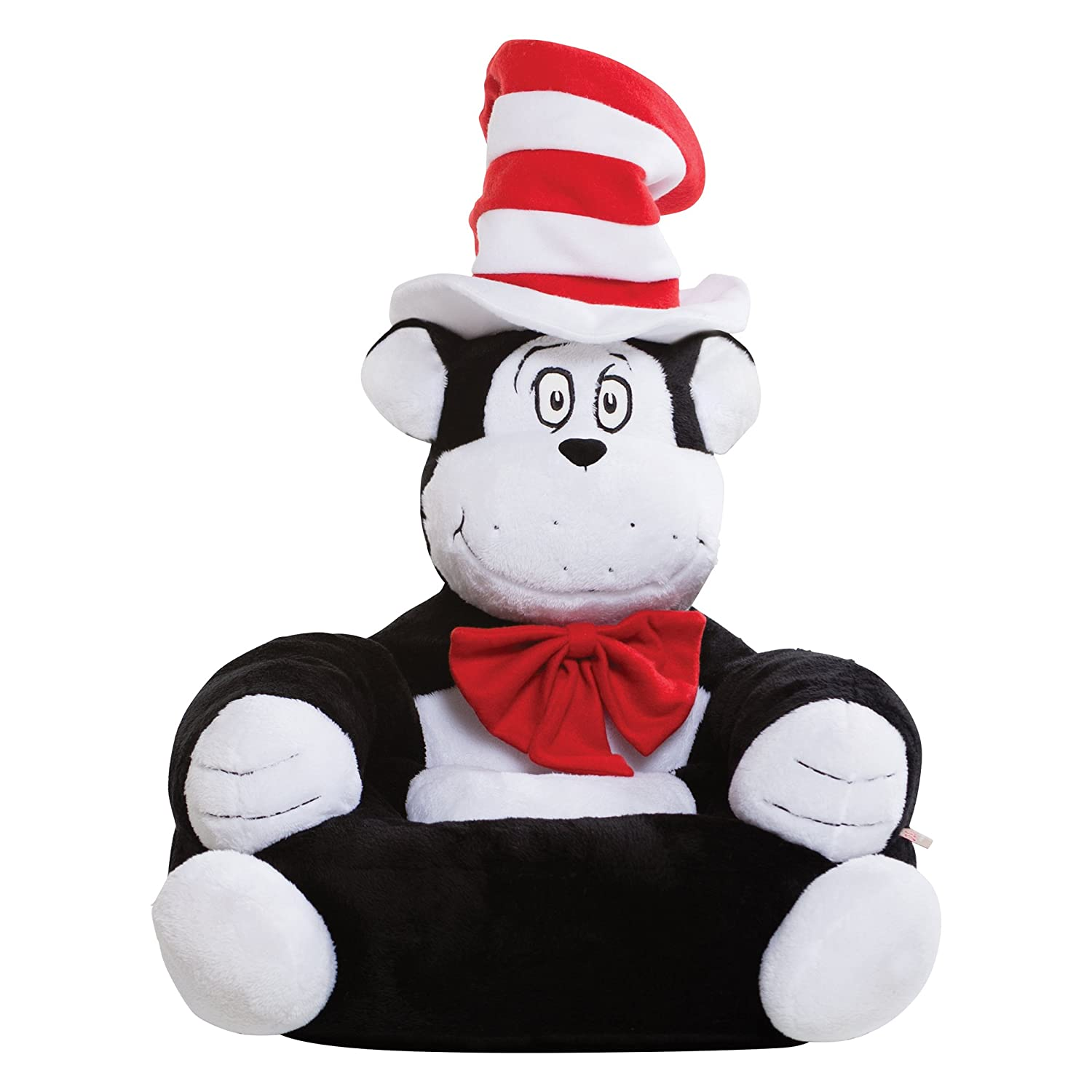 Amazon.com: Trend Lab Dr. Seuss The Cat In The Hat Childrenu0027s Plush  Character Chair, White: Baby