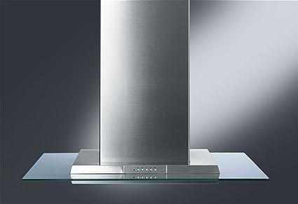 Smeg KSEIV97X - Campana (870 m³/h, Canalizado/Recirculación, 68 dB, Isla, Acero inoxidable, Vidrio, Acero inoxidable): Amazon.es: Electrónica