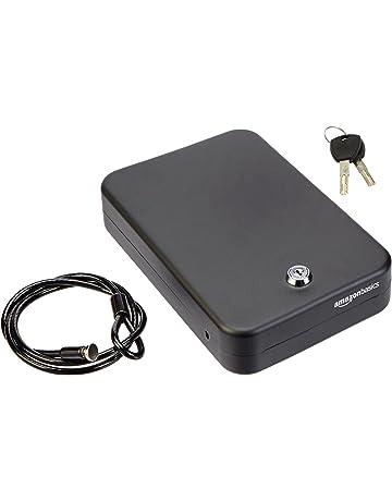 AmazonBasics - Caja fuerte portátil, cerradura de llave, XL