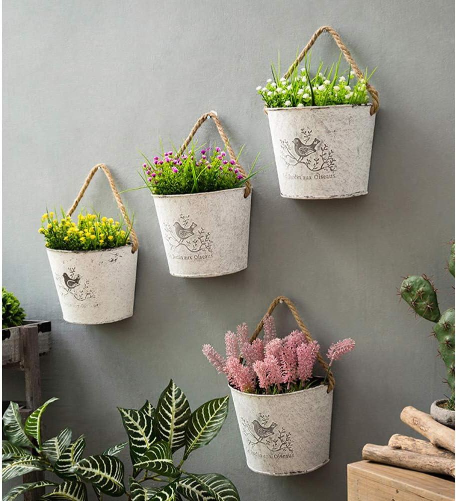2 PCS Iron Wall Hanging Gentleman Basket 25Cm Semi-Circular Plant Flower W U6P0