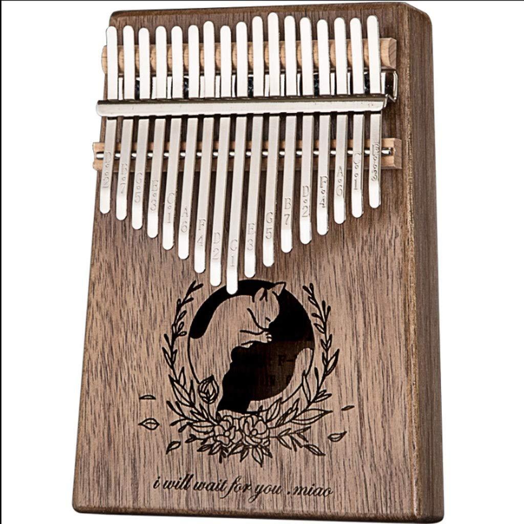 Kalimbaqin Thumb Piano 17 Sound Kalingbaqin Beginners Entry Instrument Finger Piano Marimbas by ZJY