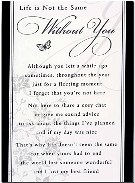 Grave Card Life Is Not The Same Without You Free Card Holder