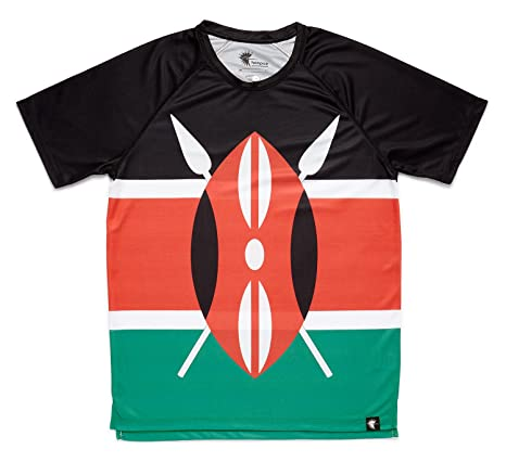 Camiseta Atletismo Kenia Niño, Niña, Manga Corta, Running, Gimnasio #Maasai Talla